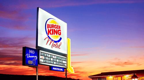 Motel infiel de Burger King, campaña de redes sociales
