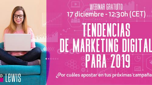Webinar: Tendencias de Marketing Digital para 2019