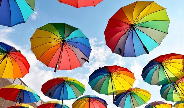 parapluie multicolor