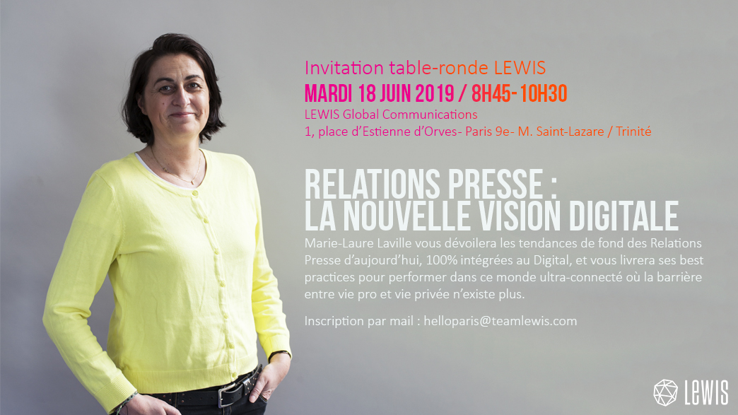 Invitation table ronde LEWIS Event 18 juin 2019