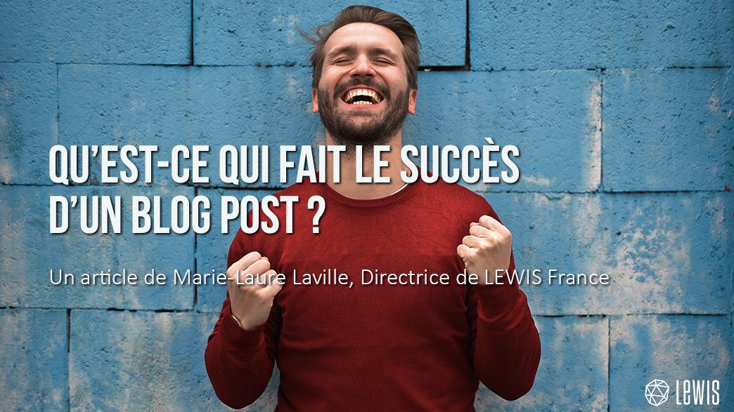 le succès d'un postblog