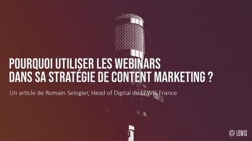 Pourquoi utiliser les webinars dans sa stratégie de content marketing