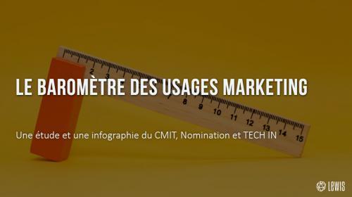Le baromètre des usages Marketing