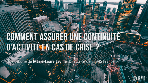 Comment assurer une continuité d'activité en cas de crise ?