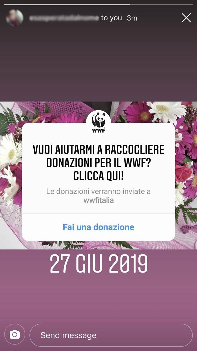 Agosto social update: Sticker Donazioni su Instagram