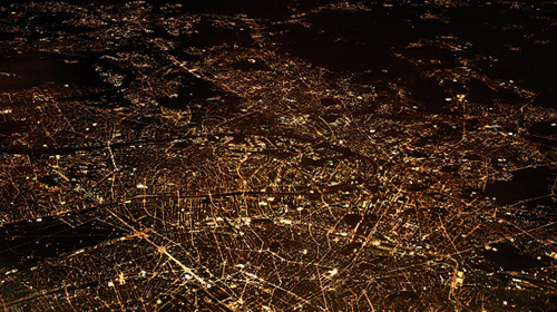 Città metropolitana di notte