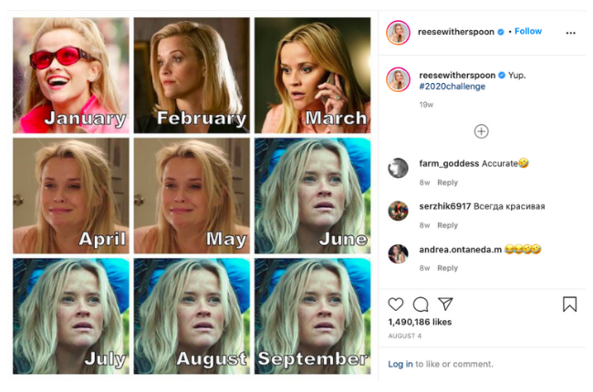 2021 social media trends - Reese Witherspoon