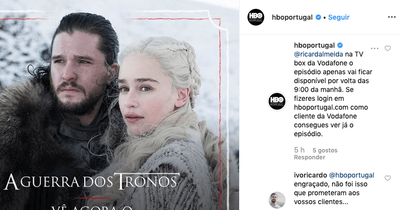 resposta hbo portugal