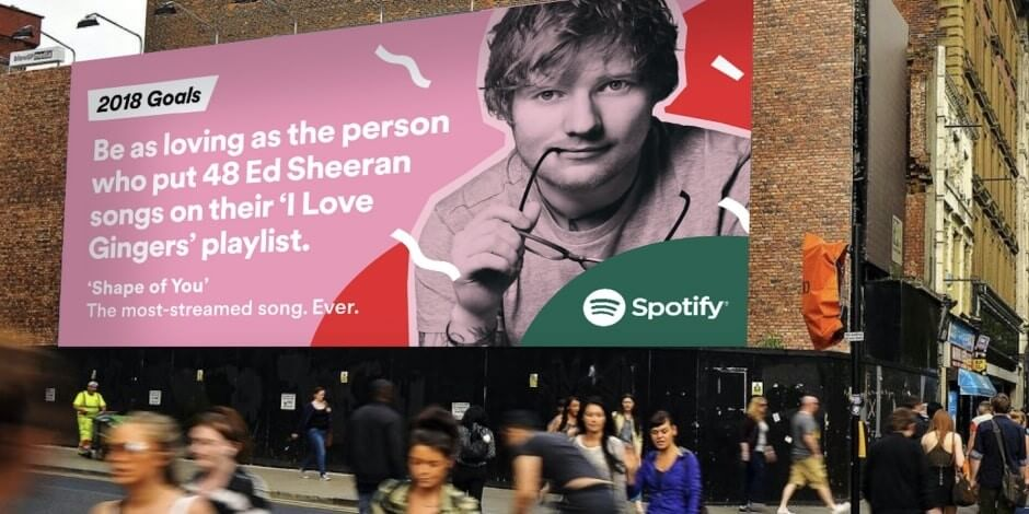 Anuncio com o Ed Sheeran