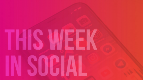 THIS WEEK IN SOCIAL: GET INVOLVED