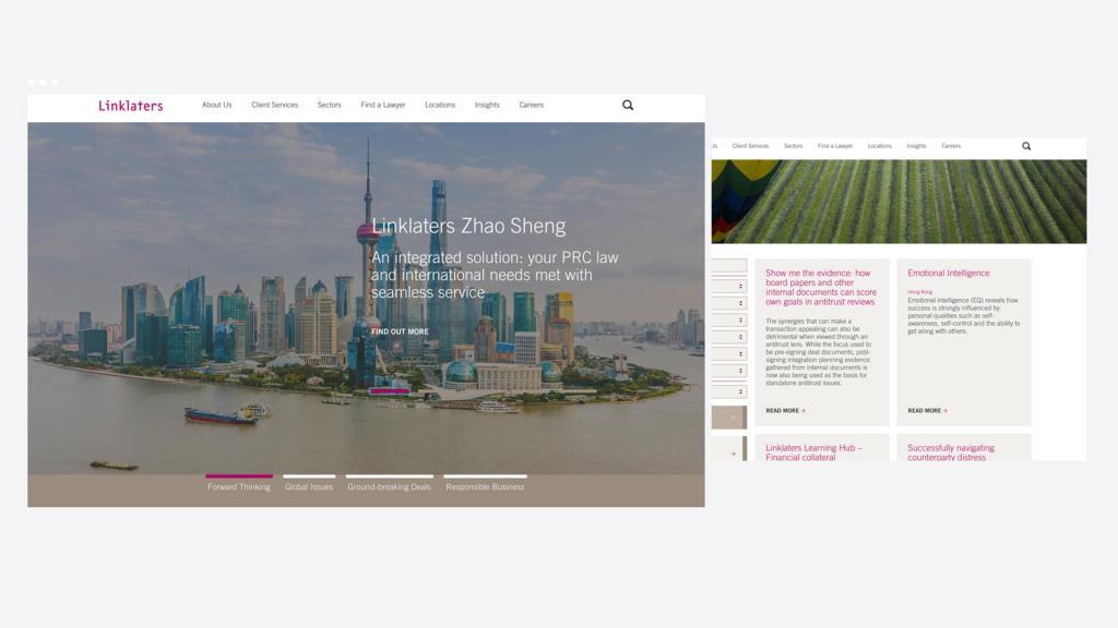 Linklaters sitecore website