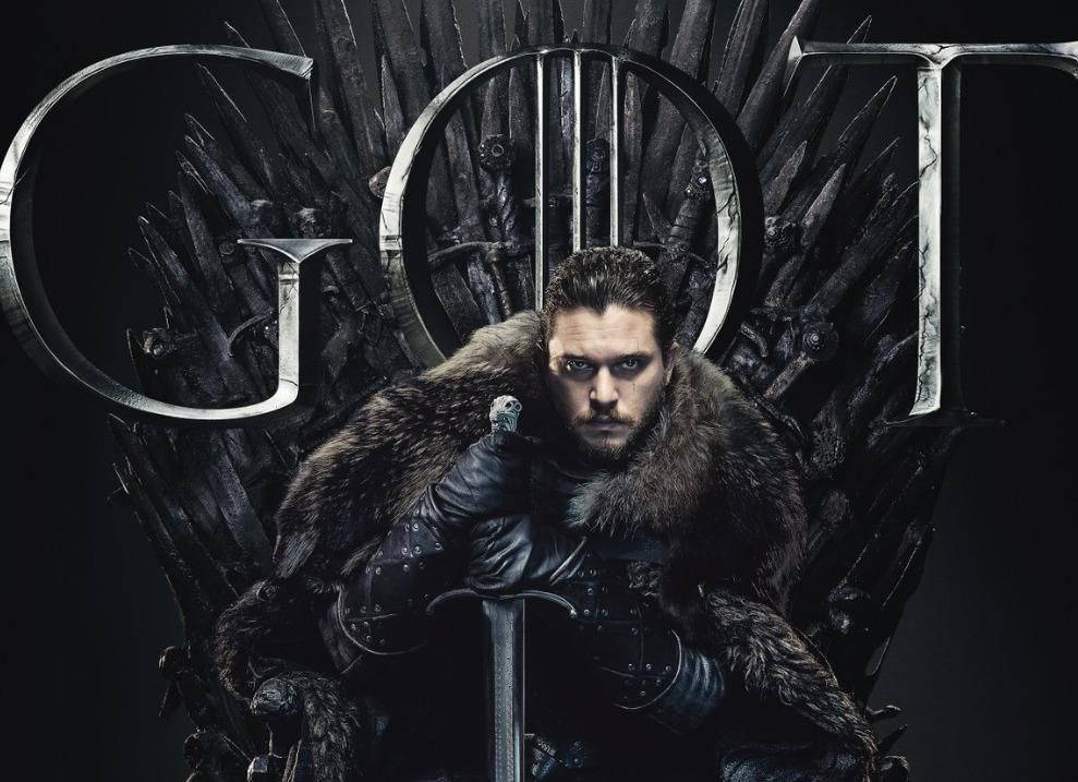 Jon Snow on the Iron Throne