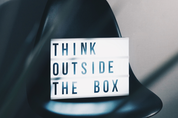 Think outside the box, creating content strategy
