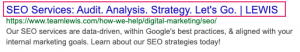 How to find your title tag in the search results page