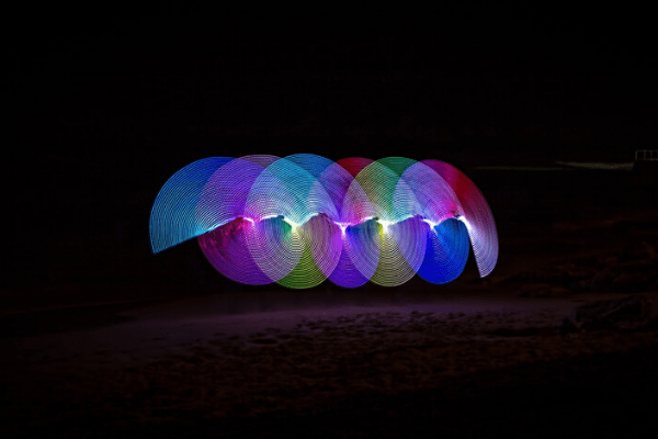 colorful circle lights, business continuity
