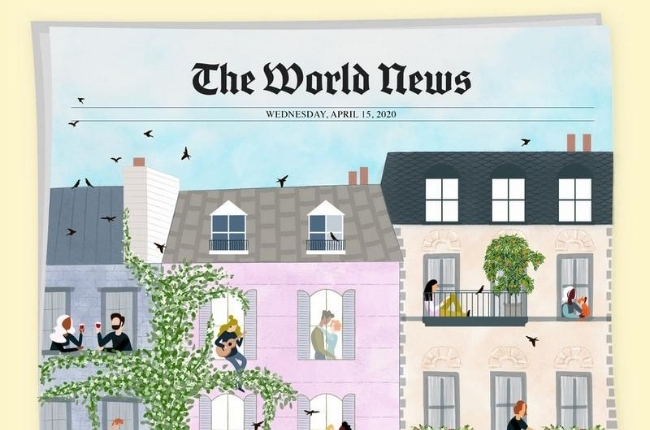 "news paper titled ""The World News"""