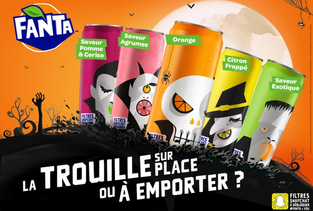 Canettes Fanta halloween