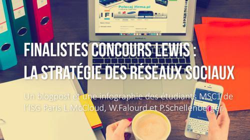Finalistes Concours LEWIS – la stratégie des réseaux sociaux