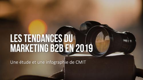 Les tendances du marketing B2B en 2019 : infographie par CMIT