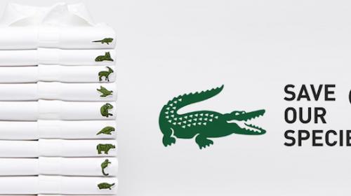Lacoste cambia su logo por 10 especies en peligro de extinción