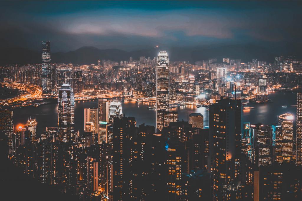 Hong Kong Skyline - Bay to Bay event