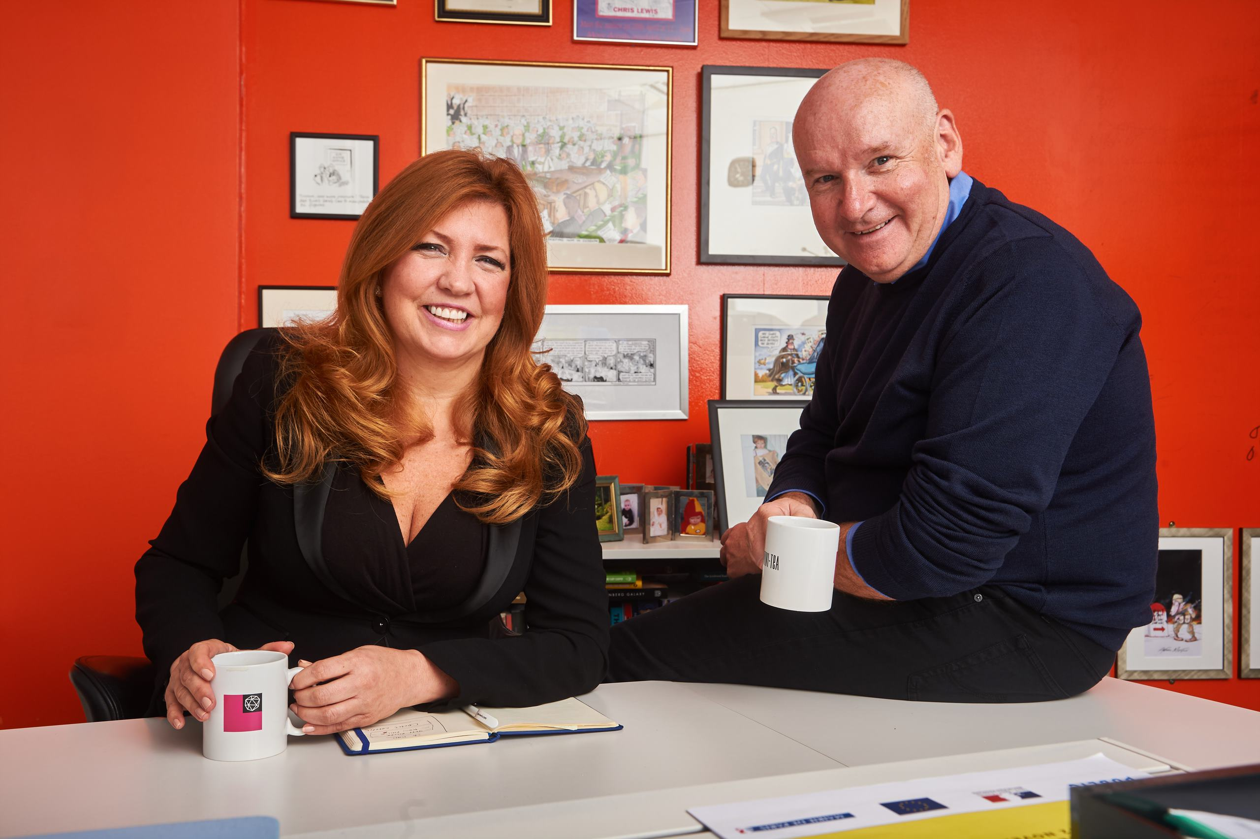 Dr Pippa Malmgren and Chris Lewis