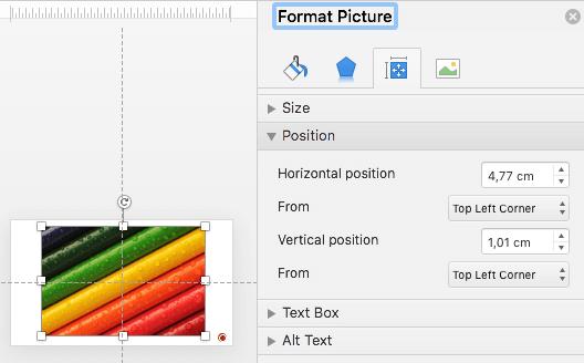 Posição imagem powerpoint