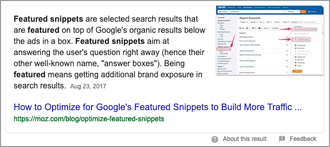 Featured Snippet o que e